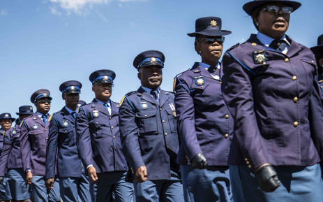FILE: SAPS officers on parade. Picture: Abigail Javier/EWN