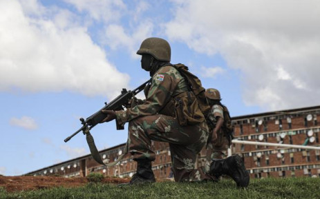 The SANDF takes to the streets of Alexandra encouraging residents of the township to stay indoors. Picture: Kayleen Morgan/EWN