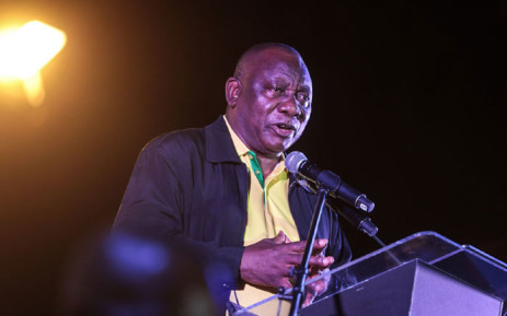 ANC president Cyril Ramaphosa launches the party's election manifesto in Tshwane on 27 September 2021. Picture: Abigail Javier/Eyewitness News