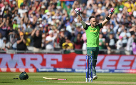 Proteas captain Faf du Plessis during a match against Australia in the Cricket World Cup 2019. Picture: @cricketworldcup/Twitter.