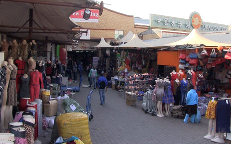 Dragon City Mall in Johannesburg where numerous foreign shop owners claim police steal from them and beat them simply because they're foreigners. Picture: Reinart Toerien/EWN.