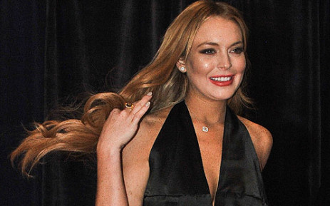 US actress Lindsay Lohan arrive at the annual White House Correspondents' Association dinner in Washington on 28 April 2012. Picture: AFP