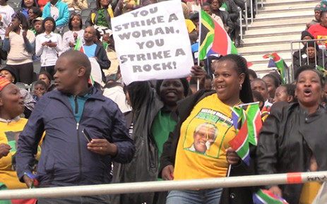 FILE: Thousands of people gather at the Union Buildings to celebrate National Women's Day. Picture: EWN