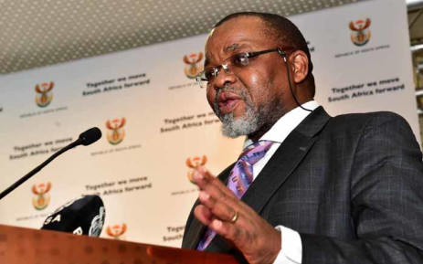 FILE: Mineral Resources Minister Gwede Mantashe briefs media on the gazetting of the Mining Charter. Picture: GCIS