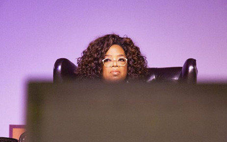 Media mogul and humanitarian Oprah Winfrey on stage at Is'thunzi Sabafazi Women's dialogue. Picture: Kayleen Morgan/EWN