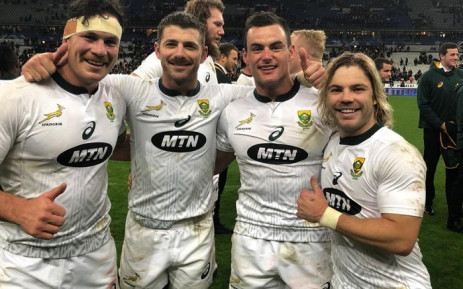 The Springboks after their match against France on 10 November 2018. Picture: @Springboks/Twitter.