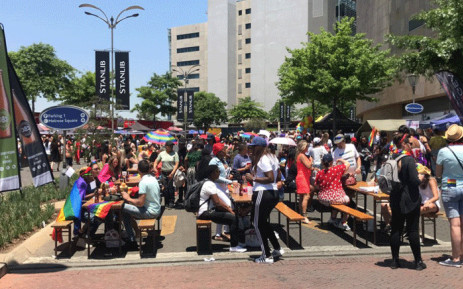 Large crowds gathered at Melrose Arch to mark the 29th annual Johannesburg Pride, on 27 October 2018. Picture: Bonga Dlulane/EWN