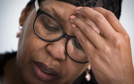 FILE: Former Gauteng Health MEC Qedani Mahlangu gives testimony at the Life Esidimeni arbitration hearing in Johannesburg on 22 January 2018. Picture: Sethembiso Zulu/EWN