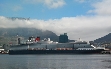 A general view of 'MS Queen Victoria' in the Port of Cape Town. Picture: @TransnetNPA/Twitter