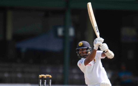 Sri Lanka's Dinesh Chandimal in action during the opening day of the second and final Test against Bangladesh. Picture: @OfficialSLC/Twitter