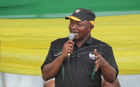 Deputy President David Mabuza addresses hundreds of residents at the Nkomeni Sports Ground about 40km east of Mbombela on 6 April 2019. Picture: @MYANC/Twitter