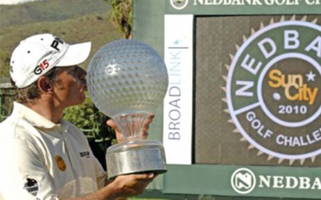 Lee Westwood, winner of the 2010 NedBank Golf challenge. Picture: Ntswe Mokoena/GCIS