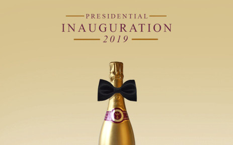 A bottle of Bonang Matheba's House of BNG bubbly which she said would be served at the 2019 presidential inauguration. Picture: @bonang_m /Twitter.