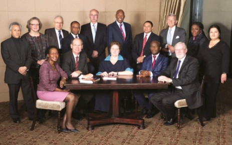 The South African Reserve Bank board, with Governor Gill Marcus at centre. Picture: Supplied.