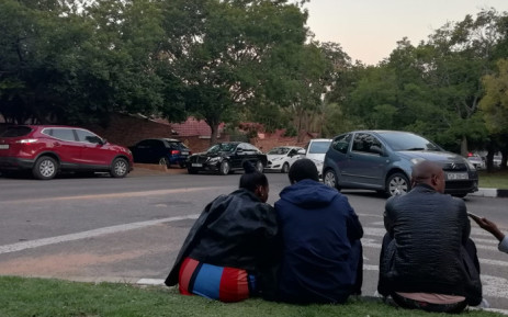 Family and friends can be seen arriving at the home of  HHP. The rapper passed away on Wednesday. Picture: Kayleen Morgan/EWN.