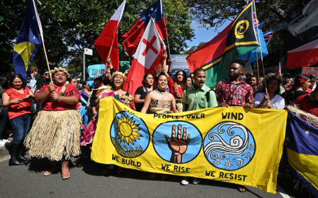 Pacific Islanders attend a protest march as part of the world's largest climate strike in Sydney on 20 September 2019. Picture: AFP