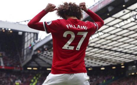 FILE: Manchester United's Marouane Fellaini celebrates a goal. Picture: @Fellaini/Twitter