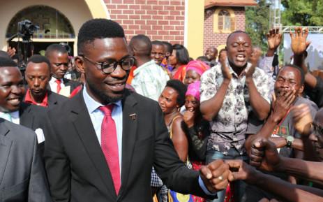 Ugandan pop star turned opposition figure Bobi Wine. Picture: @HEBobiwine/Twitter.