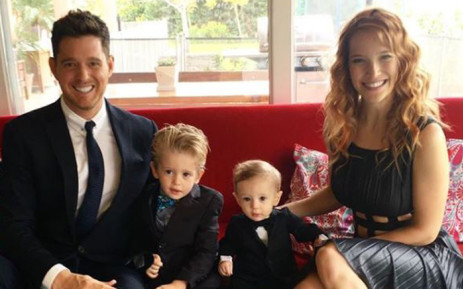 Michael Buble with wife Luisana Lopilato and their sons Noah and Elias. Picture: Instagram/@michaelbuble