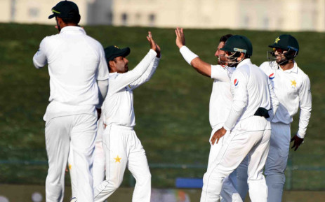 Pakistan had 37-0 at close on the third day of the first Test against New Zealand in Abu Dhabi on 18 November 2018. Picture: @TheRealPCB/Twitter