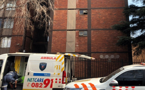 Netcare911 on scene where a Pretoria man died after falling from fifth floor of a building. Picture: @Netcare911_sa/Twitter