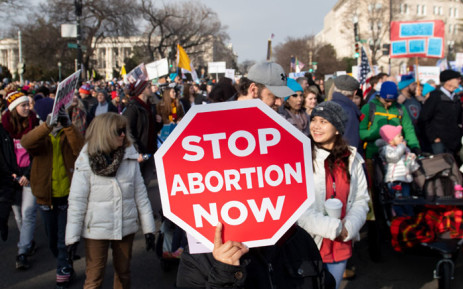 """In this file photo taken on 18 January 2019, anti-abortion activists participate in the """"March for Life,"""" an annual event to mark the anniversary of the 1973 Supreme Court case Roe v. Wade, which legalized abortion in the US, outside the US Supreme Court in Washington, DC. Picture: AFP"""