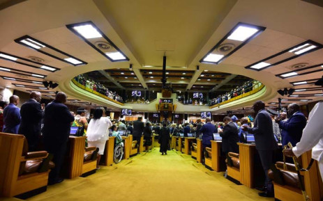 President Cyril Ramaphosa arrives at State of the Nation Address during the joint sitting of Parliament in the National assembly, Cape Town. Picture: GCIS.