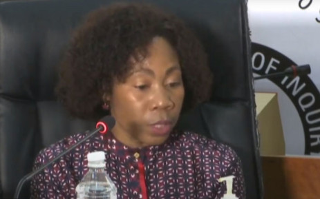 A screengrab of former Public Enterprises acting Director-General, Matsietsi Mokholo, testifying at the state capture commission on 14 January 2021. Picture: SABC/YouTube