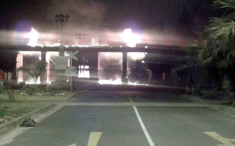 CPUT officials on the ground confirmed a fire damaged the entrance at the Bellville campus security control centre. Picture: Kevin Brandt/EWN.