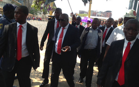 EFF leader Julius Malema leaves the High Court in Polokwane on 30 September 2014. Picture: Vumani Mkhize/EWN.