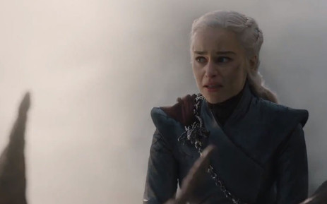 A screengrab shows Emilia Clarke in Game of Thrones season 8, episode 5.  Clarke plays the role of Daenerys Targaryen. Picture: HBO/Twitter