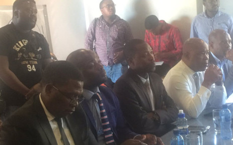 Tshwane Mayor Solly Msimanga joined the Education Department together with Gauteng MEC Panyaza Lesufi in the meeting at the Pretoria Girls High School. Picture: Thando Kubheka/EWN.