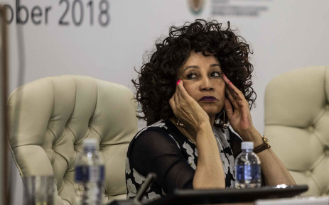 Minister of International Relations and Cooperation Lindiwe Sisulu at the Heads of Mission Conference in Pretoria. Picture: Abigail Javier/EWN