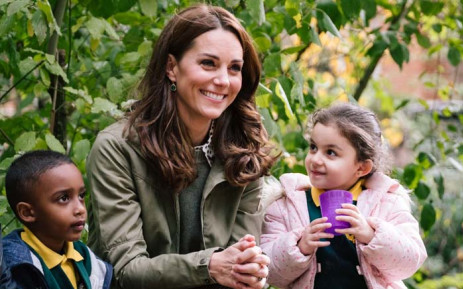 FILE: The Duchess of Cambridge visited an inner-city London wildlife garden on Tuesday 2 October 2018 in her first official solo engagement since giving birth to her third child, Prince Louis, in April. Picture: @KensingtonRoyal/Twitter