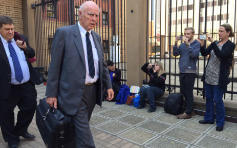 Former tennis champion Bob Hewitt outside court after being sentenced to an effective six years in jail for rape and indecent assault. Picture: Gia Nicolaides/EWN