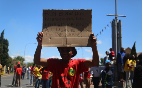 FILE: The protests are related to free education and have intensified since last week's march to the Union Buildings by thousands of people. Picture: Andiswa Mkosi Primedia.