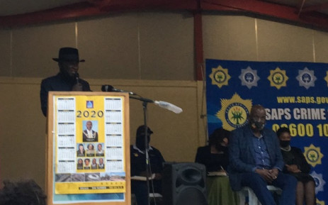 Police Minister Bheki Cele visited KwaNdengezi township in KwaZulu-Natal on 28 September 2020 where nine people were killed in two separate shootings over the weekend. Picture: Nkosikhona Duma/EWN