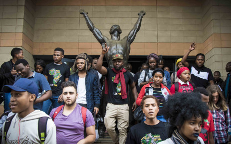 Students rally supporters in lecture halls on Wits campus after Minister of Higher Education Blade Nzimande failed to deliver a free tertiary education policy. Picture: Thomas Holder/EWN