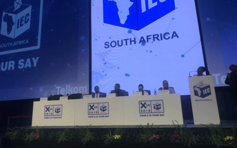 IEC CEO Sy Mamabolo at a media briefing. Picture: Clement Manyathela/EWN