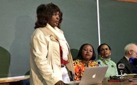 ANC MP Makhosi Khoza speaks at the Ruth First Roundtable discussion at Wits University on 17 August 2017. Picture: Katleho Sekhotho/EWN