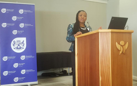 FILE: Western Cape MEC for health Nomafrench Mbombo. Picture: @WestCapeHealth/Twitter