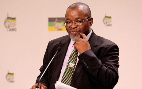 ANC Secretary General Gwede Mantashe speaking in Johannesburg on 28 January 2014. Picture: Sebabatso Mosamo/EWN.