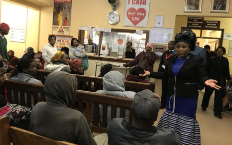 Health MEC Nomafrench Mbombo at the Hout Bay Community Day Centre. Picture: Kaylynn Palm/EWN.