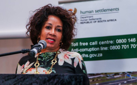 Minister of Human Settlements Lindiwe Sisulu. Picture: Facebook.