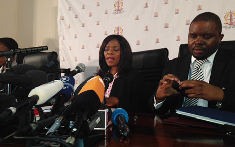 Public Protector Thuli Madonsela releases the findings of her Nkandla report during a press conference in Pretoria on 19 March 2014. Picture: Sebabatso Mosamo/EWN.