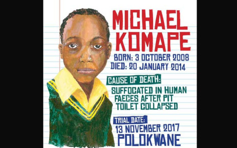 FILE: Michael Komape died after falling into a pit toilet at school in 2014. Picture: Twitter/@Corruption_SA.