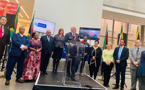 Western Cape Premier Alan Winde (centre) announces his Cabinet members in Cape Town on 23 May 2019. Picture: @alanwinde/Twitter