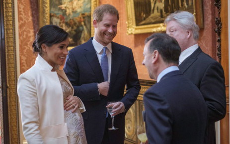 FILE: The Duke and Duchess of Sussex attend a reception at Buckingham Palace hosted by the queen. Picture: @KensingtonRoyal/Twitter