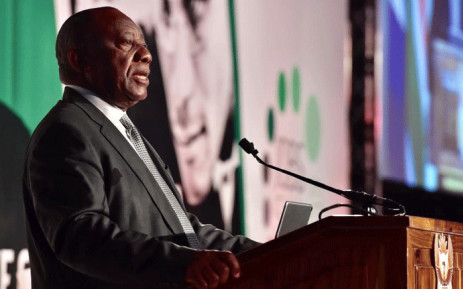 President Cyril Ramaphosa at the 2018 Jobs Summit on 4 October 2018. Picture: @PresidencyZA/Twitter