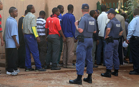 FILE: Some of THE Lonmin mineworkers that were arrested for murder at Marikana. PICTURE: EWN